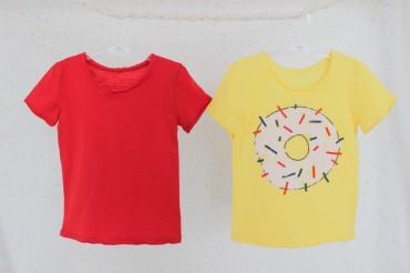 YaSan: Набор футболок (желтая + серая) Хеппи банан 60605162 - главное фото