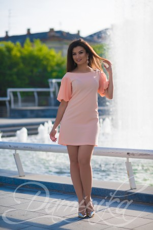 Daminika: Легкое шифоновое платье «Фламинго» 11603 - главное фото