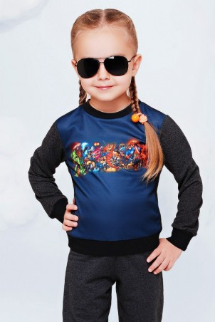 "FashionUp Kids: Свитшот ""Kids"" KF-076 - главное фото"