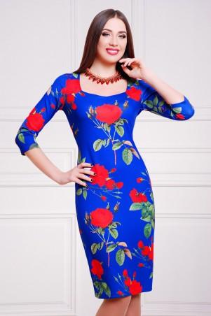 Glem: Платье Роза синий  Вики-К д/р - главное фото