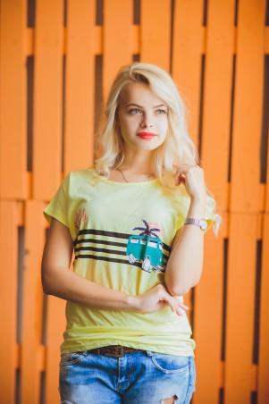 BIBI-Brand: Футболка the beach жёлтый - главное фото
