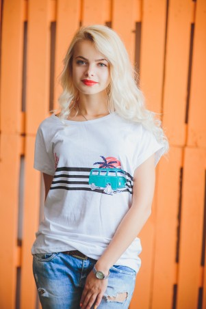 BIBI-Brand: Футболка the beach белый - главное фото