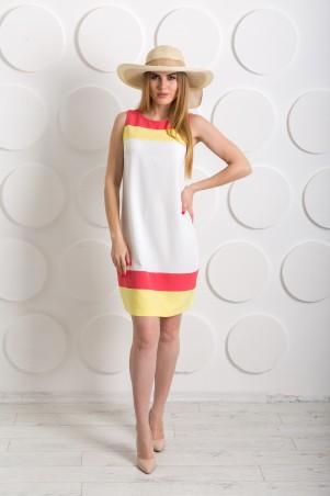 """Me&Me: Платье с желтыми и коралловыми вставками """"Сocktail"""" 7218 - главное фото"""