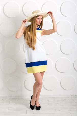 """Me&Me: Платье с синими и желтыми вставками """"Сocktail"""" 7217 - главное фото"""