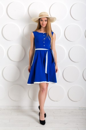 "InRed: Платье ""Ретро"" электрик 7210 - главное фото"