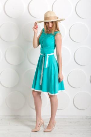 "Me&Me: Платье ""Ретро"" бирюзовое 7221 - главное фото"