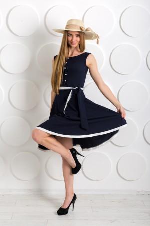 "InRed: Платье ""Ретро"" синее 7220 - главное фото"
