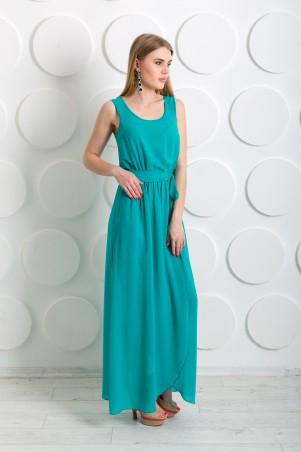 """InRed: Длинное платье из шифона """"Дайкири"""" бирюзовое 7199 - главное фото"""
