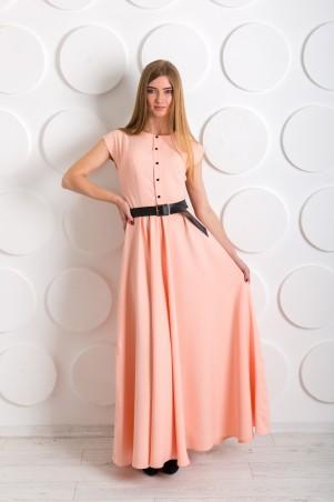 """InRed: Длинное платье """"Pretty women"""" персиковое 7196 - главное фото"""