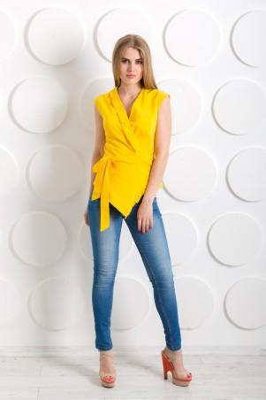 "InRed: Блуза с запахом ""Серсея"" желтая 7207 - главное фото"