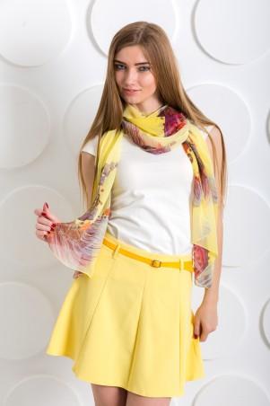 InRed: Шарф бледно-желтый с узором 204 - главное фото