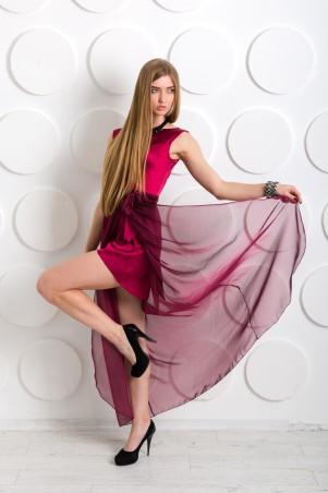 """Me&Me: Вечернее платье """"Конфесса"""" бордовое 7232 - главное фото"""