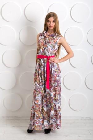 """InRed: Платье-рубашка """"Сильвия"""" бело-розовое 7208 - главное фото"""