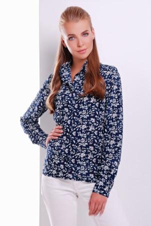 MarSe: Блуза 1615 темно-синий цветок - главное фото
