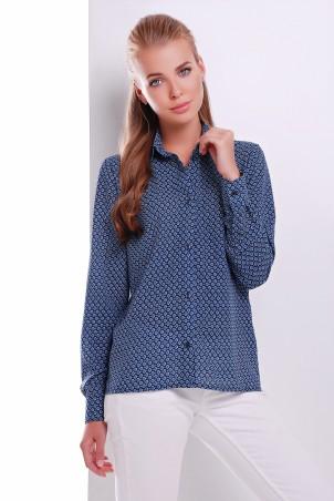 MarSe: Блуза 1615 синий кружок - главное фото