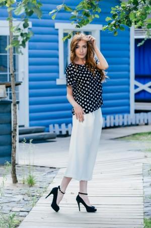Ляпота: Блуза в горошек 1020 - главное фото