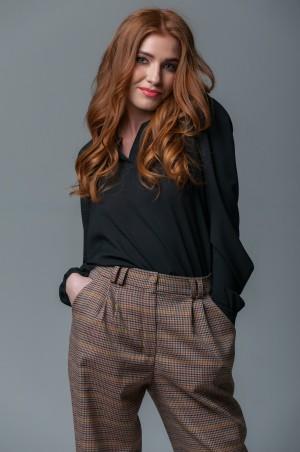Ляпота: Блуза черная 1013 - главное фото