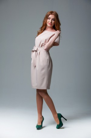 Ляпота: Платье модного пудрового оттенка 1008 - главное фото