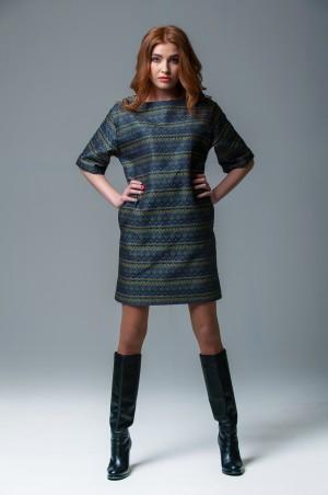 Ляпота: Платье oversize из жаккардовой ткани 1007 - главное фото