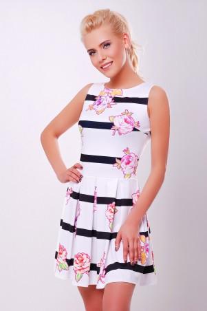 Glem: Платье Цветы-полоска  Мия-1 б/р - главное фото
