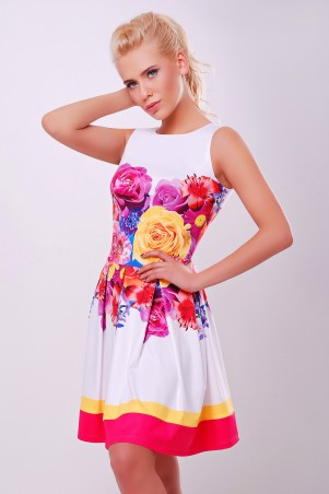 Glem: Платье Летний букет розовый  Мия-1 б/р - главное фото