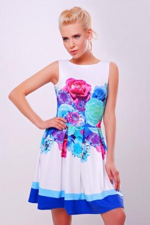 Glem: Платье Летний букет голубой  Мия-1 б/р - главное фото