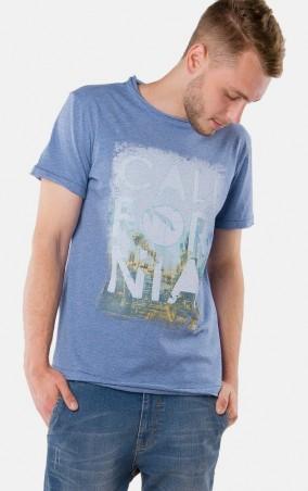 MR520 Men: Футболка с принтом MR 125 1128 0316 Blue Melange - главное фото