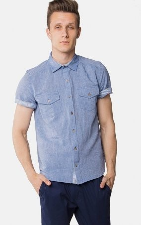 MR520 Men: Однотонная рубашка MR 123 1098 0216 Blue - главное фото