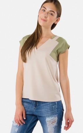 MR520 Women: Блуза - рубашка с геометрическим узором MR 215 2154 0316 Flax - главное фото