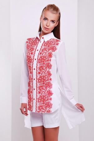 Glem: Блуза Узор красный  Джована д/р - главное фото