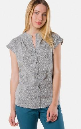 MR520 Women: Рубашка с принтом MR 223 2151 0216 Blue - главное фото