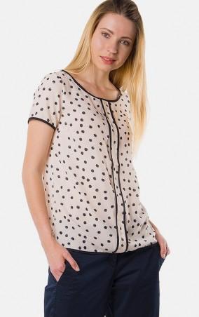 MR520 Women: Прямая блуза с принтом MR 217 2125 0216 Milky White - главное фото