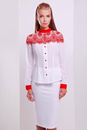 Glem: Блуза Кружево красное  Есения д/р - главное фото