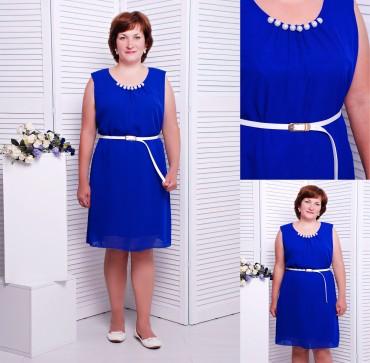 """TessDress: Шифоновое платье """"Муза"""" Электрик 1298 - главное фото"""
