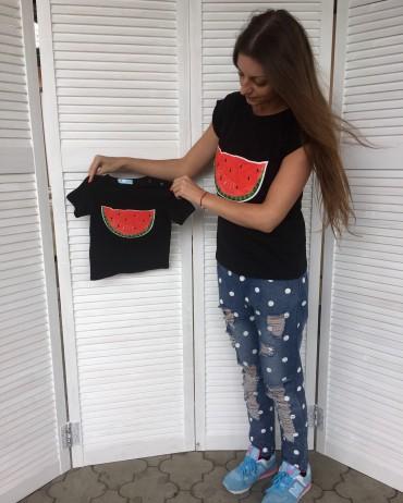 "Mimi Book: Летний FamilyLOOK ""Арбуз"" женская футболка G10120 - главное фото"