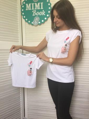 "Mimi Book: Летний FamilyLOOK ""Balloon"" женская футболка G10118 - главное фото"