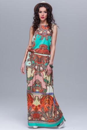 Jet: Платье Нимфа Бирюза огурец трикотаж 1084.1-3032 - главное фото