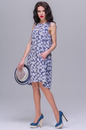 Jet: Платье ДАША штапель-джинс №1 деним 1148-5381 - главное фото