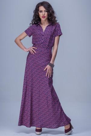 Jet: Платье ФЛОРИДА штапель Ситец лиловый 1081-4073 - главное фото