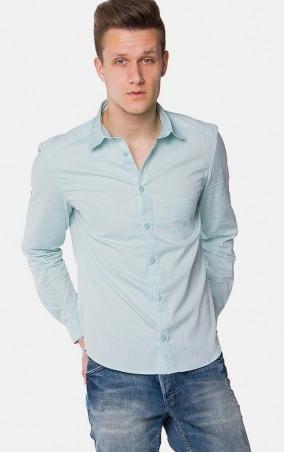 MR520 Men: Однотонная рубашка MR 123 1097 0216 Mint - главное фото