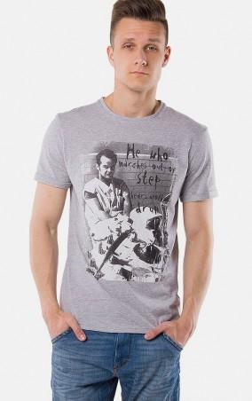 MR520 Men: Футболка с принтом MR 125 1125 0316 Dark Gray Melange - главное фото